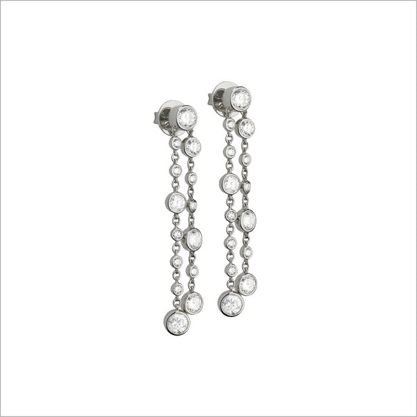 Couture 18K White Gold & Diamond Earrings