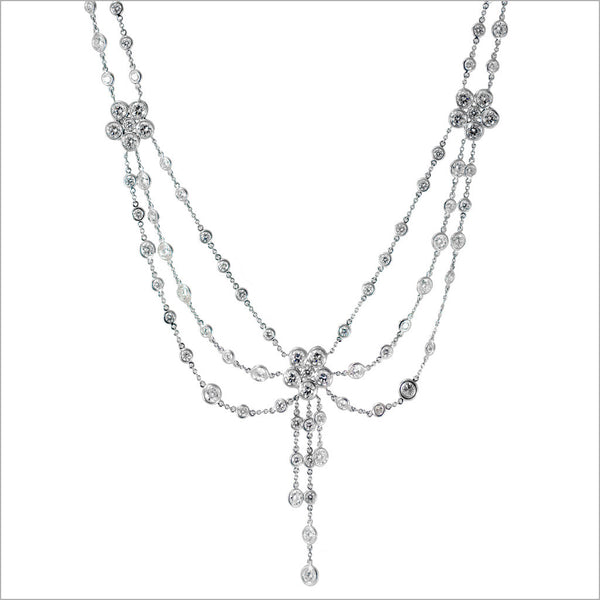 Couture 18K White Gold & Diamond Necklace