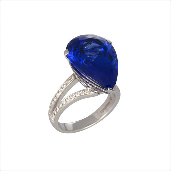 Couture 18K Gold & Tanzanite Diamond Ring