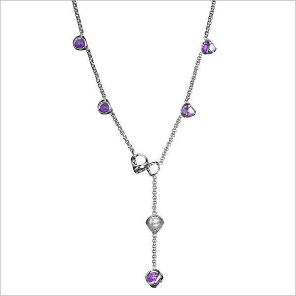 Icona Sterling Silver & Amethyst Lariat