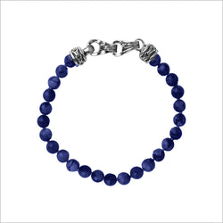Men's Centauro Blue Lapis 6mm Bead Bracelet