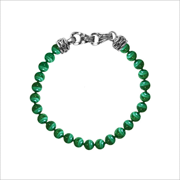 Men's Centauro Malachite 8mm Bead Bracelet