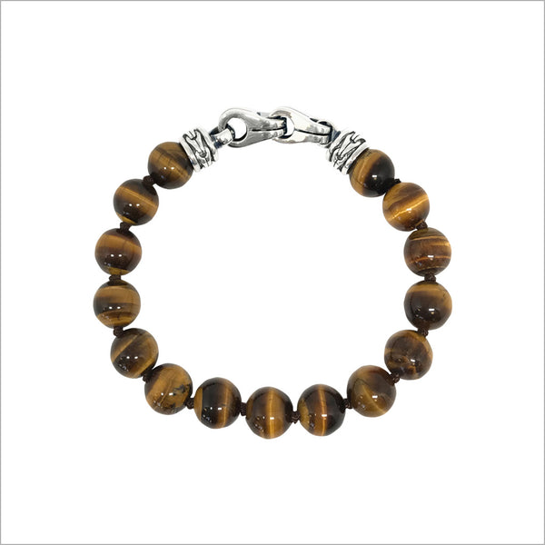 Men's Centauro Tigers Eye 8mm Bead Bracelet