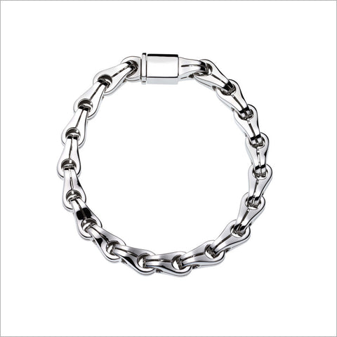 Men's Falco 18K White Gold Chain Bracelet