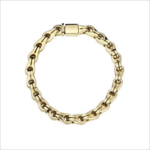 Men's Falco 18K Gold & Rubber Bracelet
