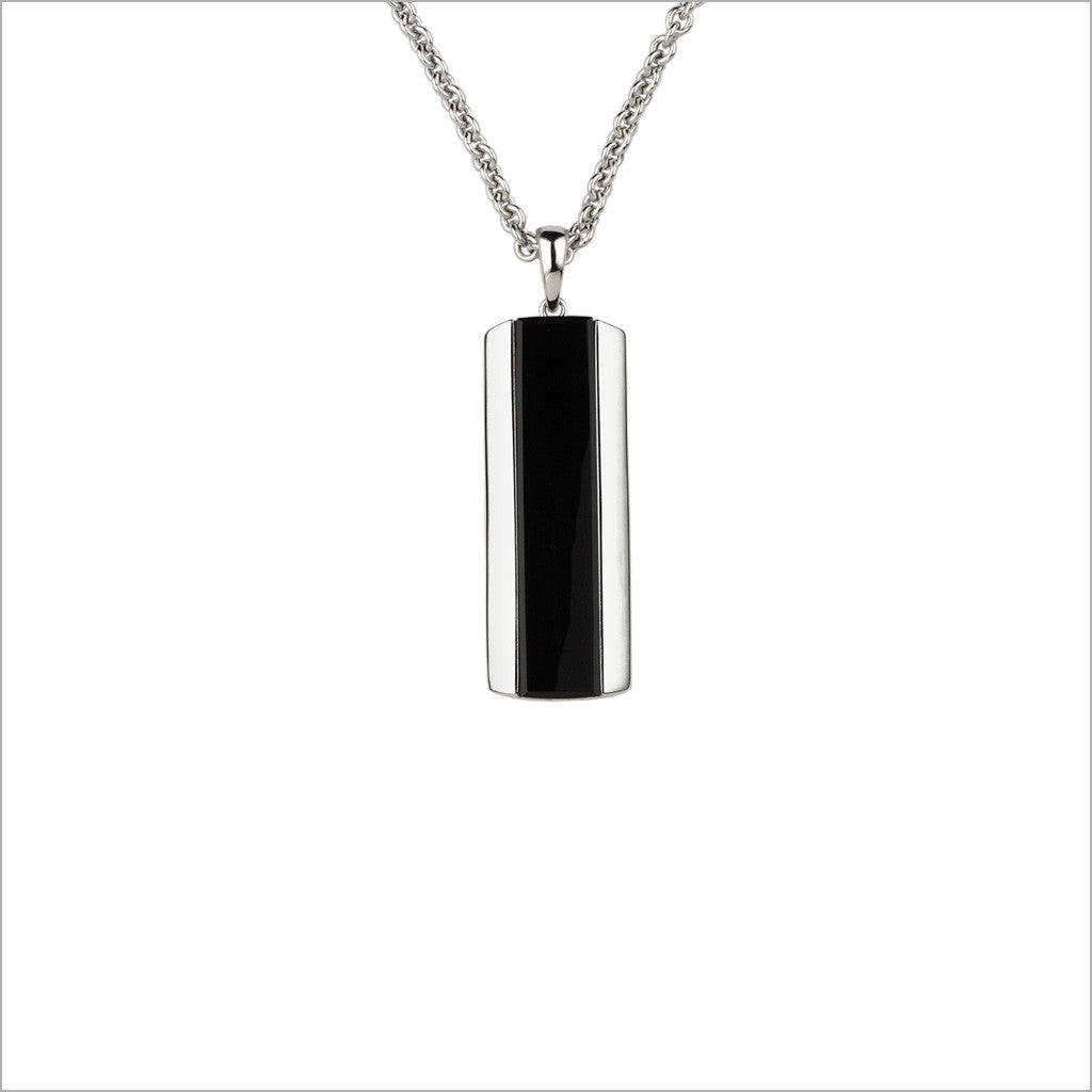 Men's Falco 18K White Gold & Black Onyx Pendant