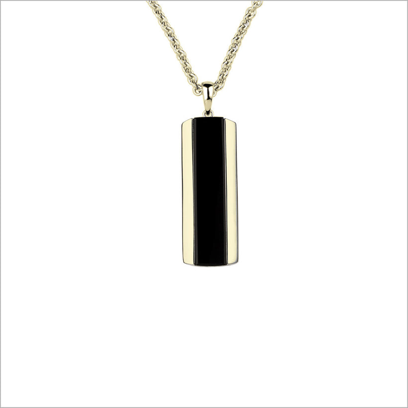 Mens falco 18k gold black onyx necklace di modolo milano mens falco 18k gold black onyx necklace aloadofball Choice Image