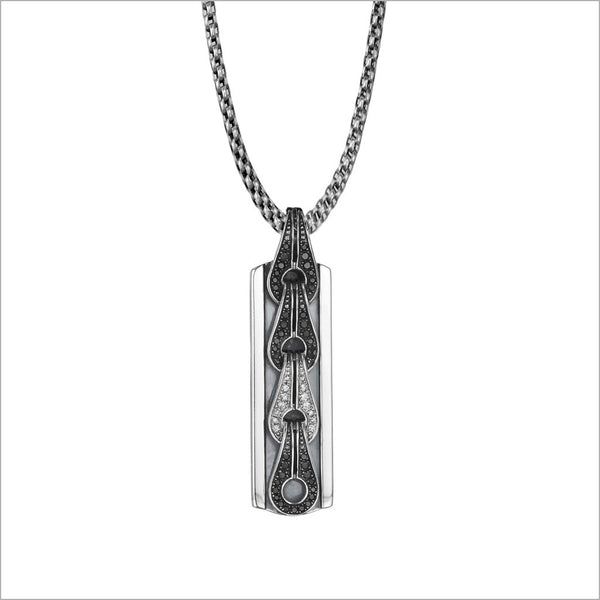 Men's Centauro Sterling Silver & Diamond Pendant