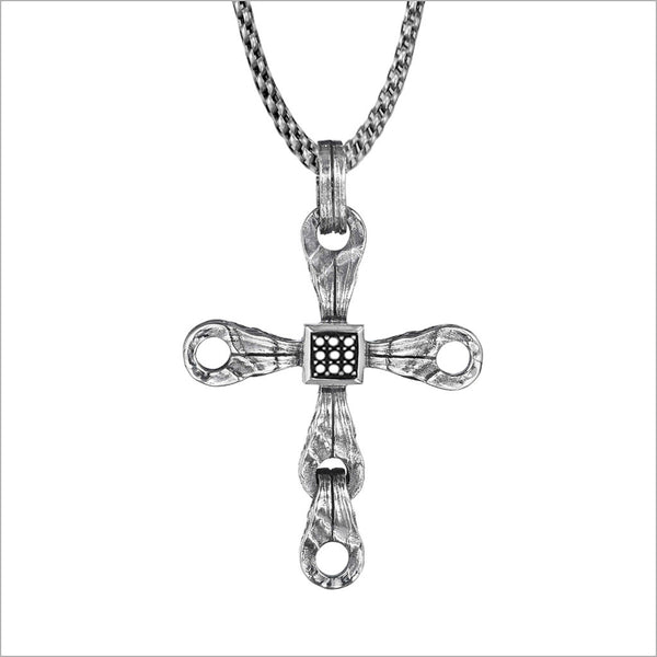 Men's Centauro Sterling Silver & Diamond Cross Pendant