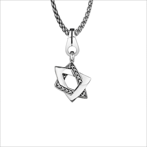 Men's Centauro Small Sterling Silver Star of David Pendant