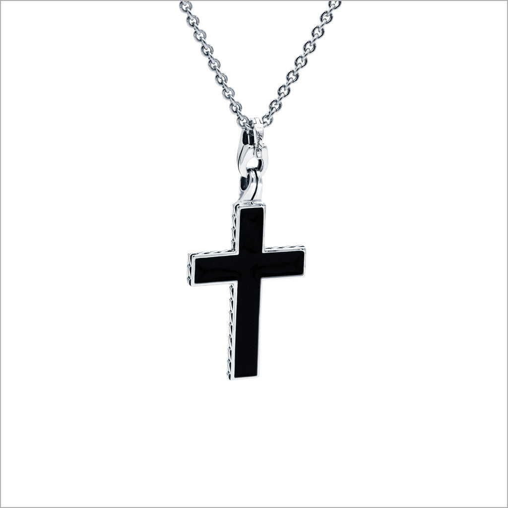 Men's Falco 18K Gold Cross Pendant