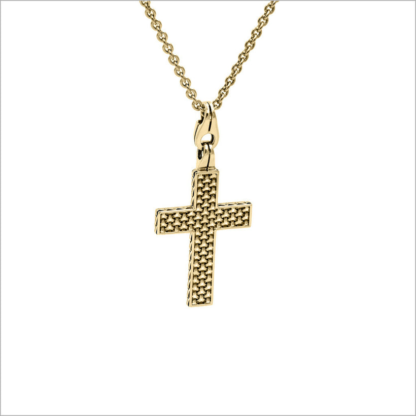 Mens falco 18k gold cross pendant di modolo milano mens falco 18k gold cross pendant aloadofball Image collections