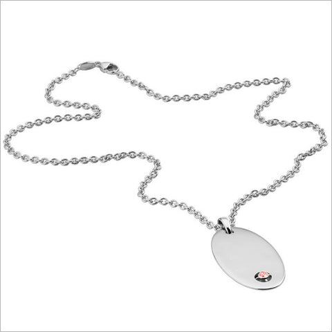Men's Falco 18K White Gold & Garnet Pendant