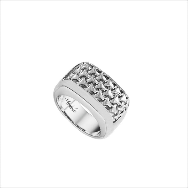 Men's Centauro Sterling Silver Weave Ring