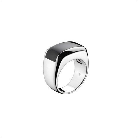 Men's Falco 18K Whtie Gold & Black Onyx Ring