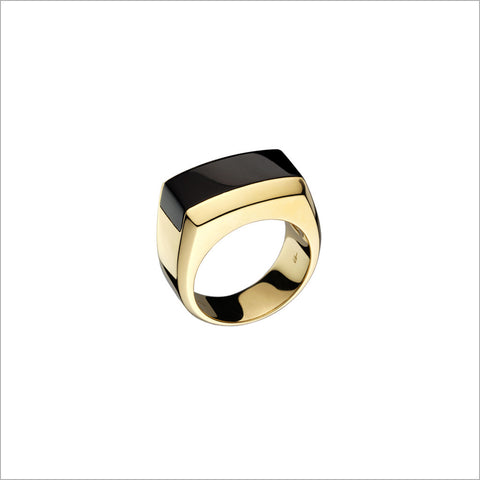 Men's Falco 18K Yellow Gold & Black Onyx Ring