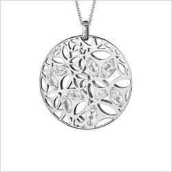 Medallion Rock Crystal Large Pendant in Sterling Silver