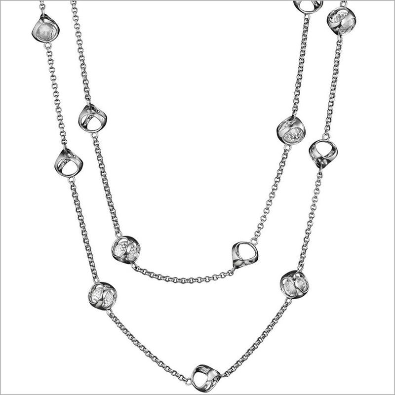 "Icona Rock Crystal 42"" Necklace in Sterling Silver"