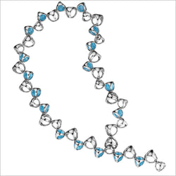 Icona Blue Quartz Necklace in sterling silver plated with rhodium