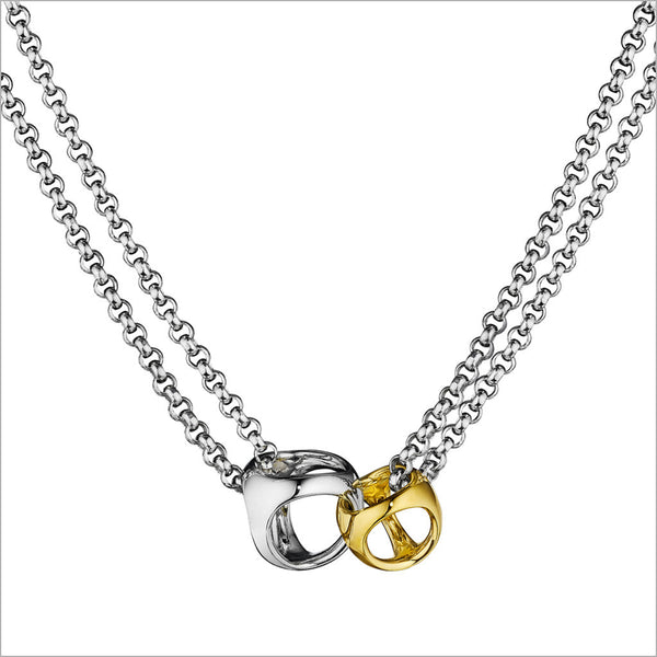 Linked By Love Silver & Gold Necklace