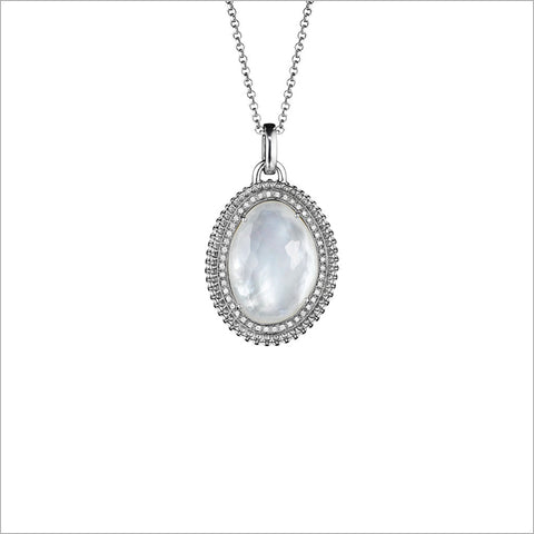 Motif Mother of Pearl & Diamond Necklace