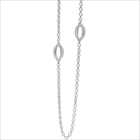 "Motif 42"" Necklace in Sterling Silver"