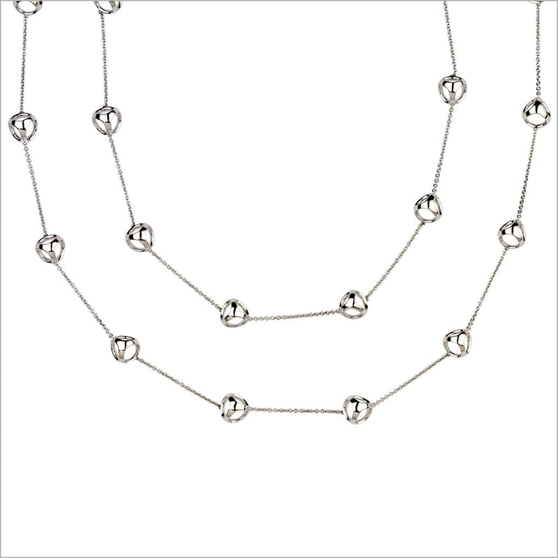 "Triadra 18K White Gold 42"" Necklace"