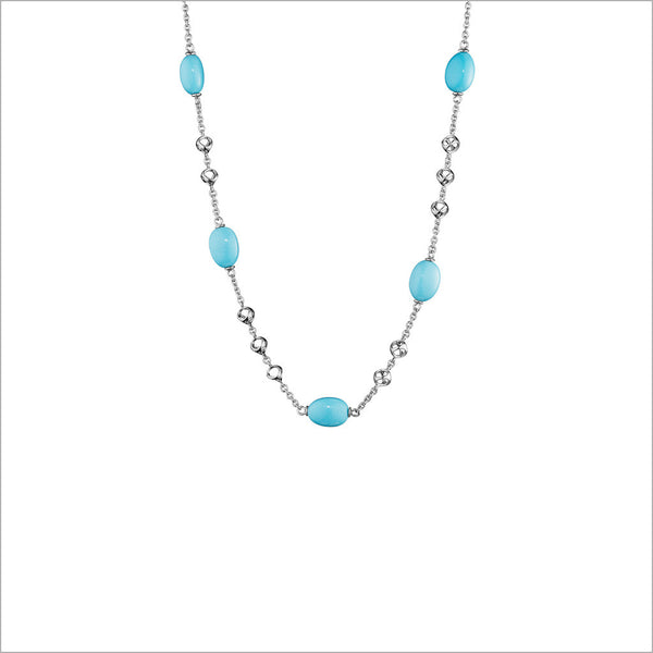 "Icona Turquoise 32"" Necklace in Sterling Silver"