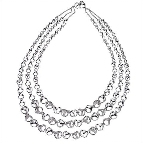 Triadra 18K White Gold & Diamond Necklace