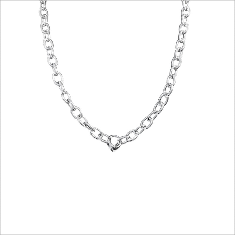 "Icona 18"" Sterling Silver Chain Necklace"