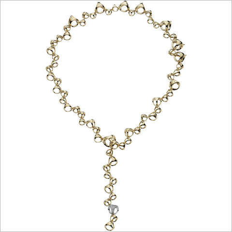 "Triadra 18K Yellow and White Gold & Diamond 18"" Necklace"