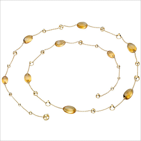 Triadra 18K Yellow Gold & Citrine Necklace