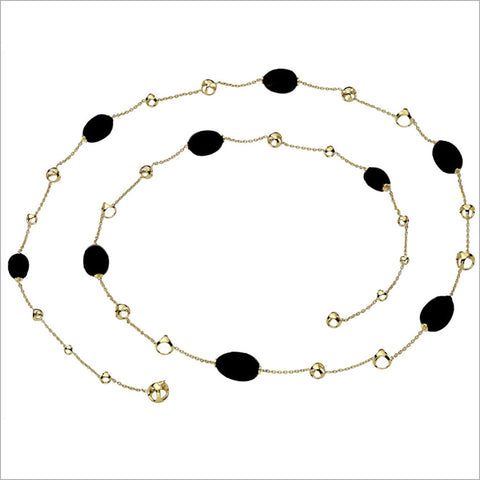 "Triadra 18K Yellow Gold & Black Onyx 42"" Necklace"