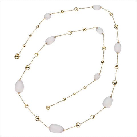 "Triadra 18K Yellow Gold & Pink Quartz 42"" Necklace"