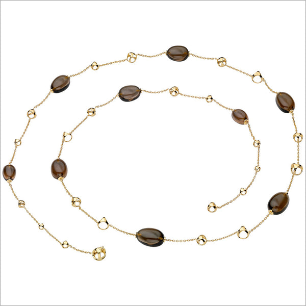 "Triadra 18K Yellow Gold & Smoky Quartz 42"" Necklace"