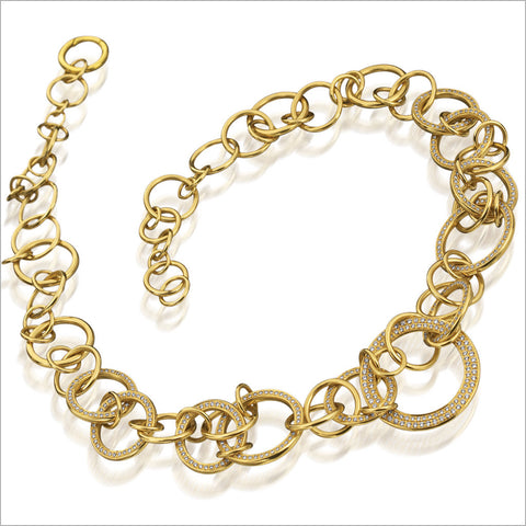Tempia 18K Yellow Gold & Diamond Necklace