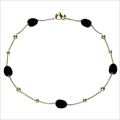 "Triadra 18K Yellow Gold & Black Onyx 18"" Necklace"
