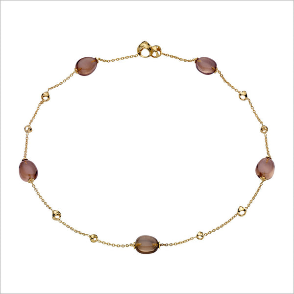 "Triadra 18K Yellow Gold & Smoky Quartz 18"" Necklace"