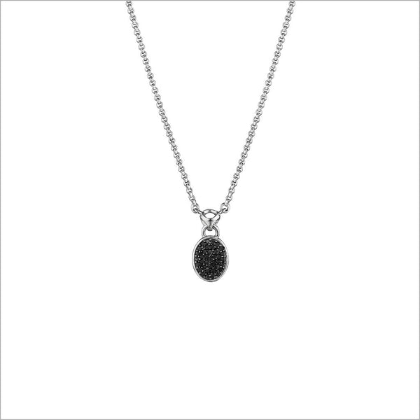 Lolita Black Diamond Necklace in Sterling Silver