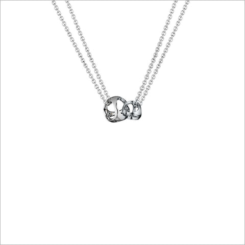 Linked By Love Sterling Silver Small Necklace