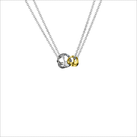 Linked By Love Silver & Gold Small Necklace