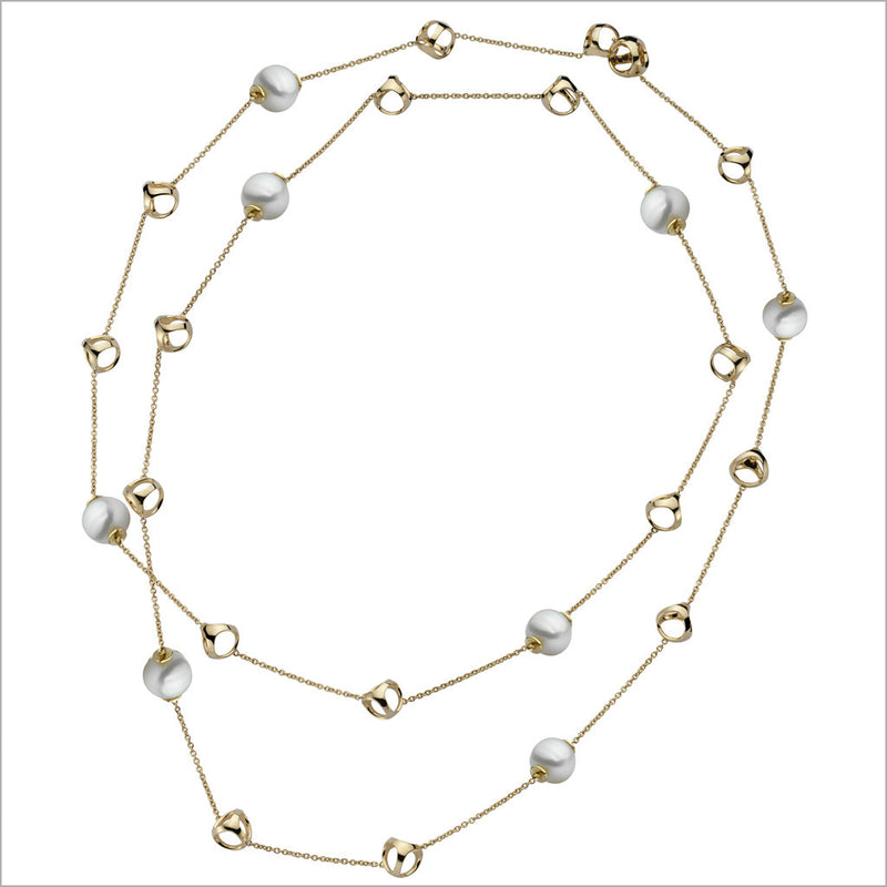 Triadra 18K Yellow Gold & Pearl Necklace