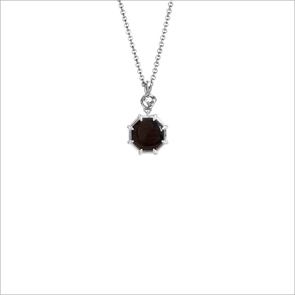 Icona Black Onyx & Diamond Small Sterling Silver Necklace