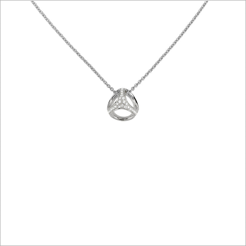 Icona Sterling Silver & Diamond Necklace