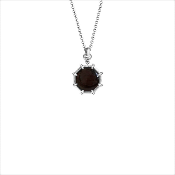 Icona Black Onyx Small Sterling Silver Necklace