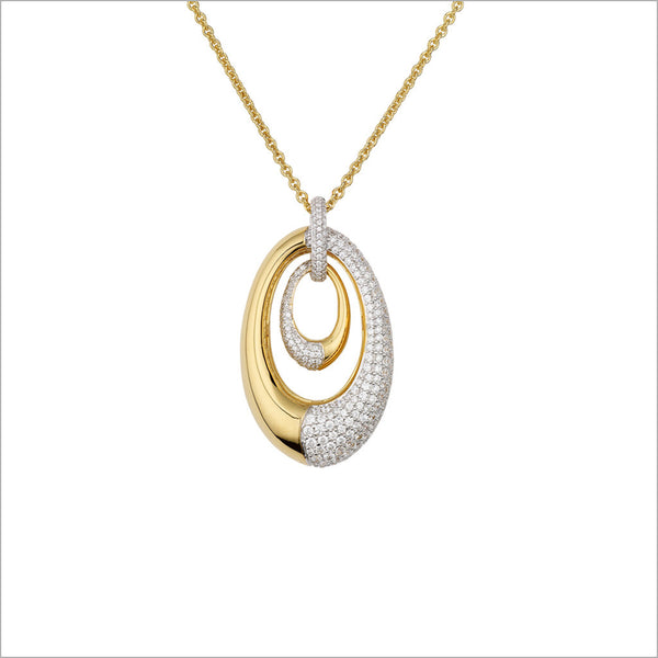 Tempia 18K Yellow and White Gold & Diamond Necklace