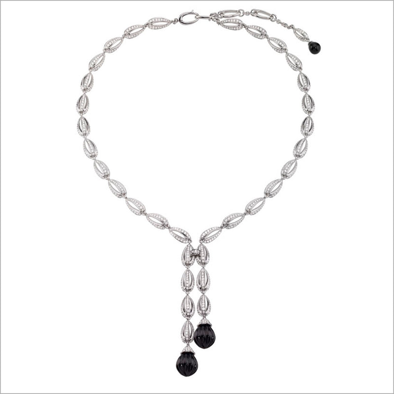 Triadra 18K Gold & Black Onyx Necklace with Diamonds