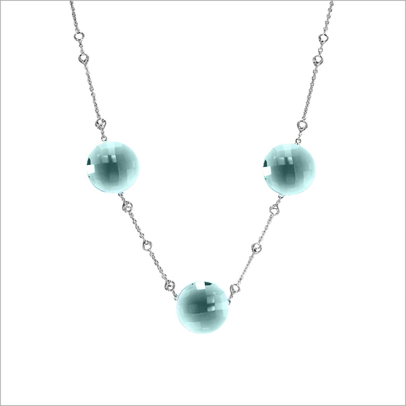 Lolita Blue Chalcedony Sterling Silver Necklace