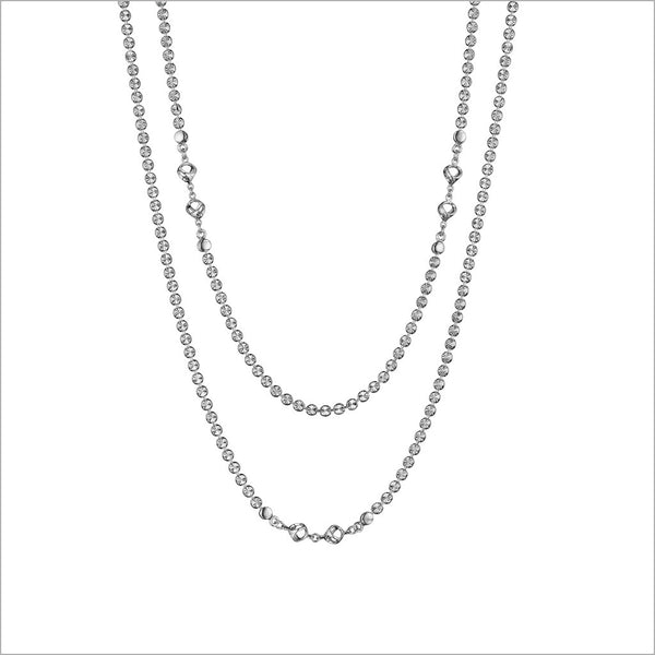 "Diamanté 42"" Necklace in Sterling Silver"