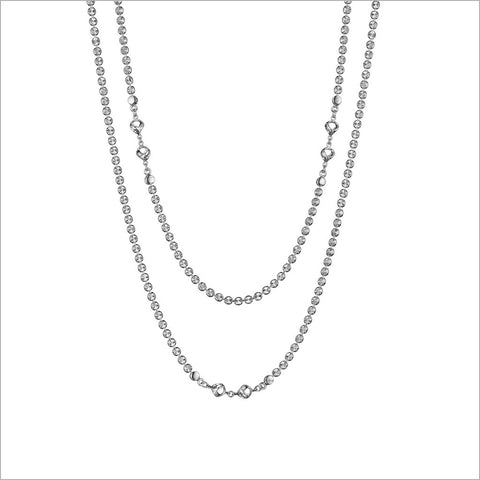 "Diamante Silver 42"" Necklace in Sterling Silver"